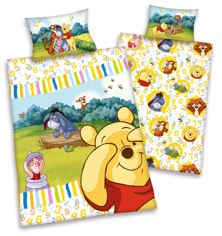 disneys winnie the pooh flanell baby bettw sche 40x60 100x135 100 bw biber neu ebay. Black Bedroom Furniture Sets. Home Design Ideas