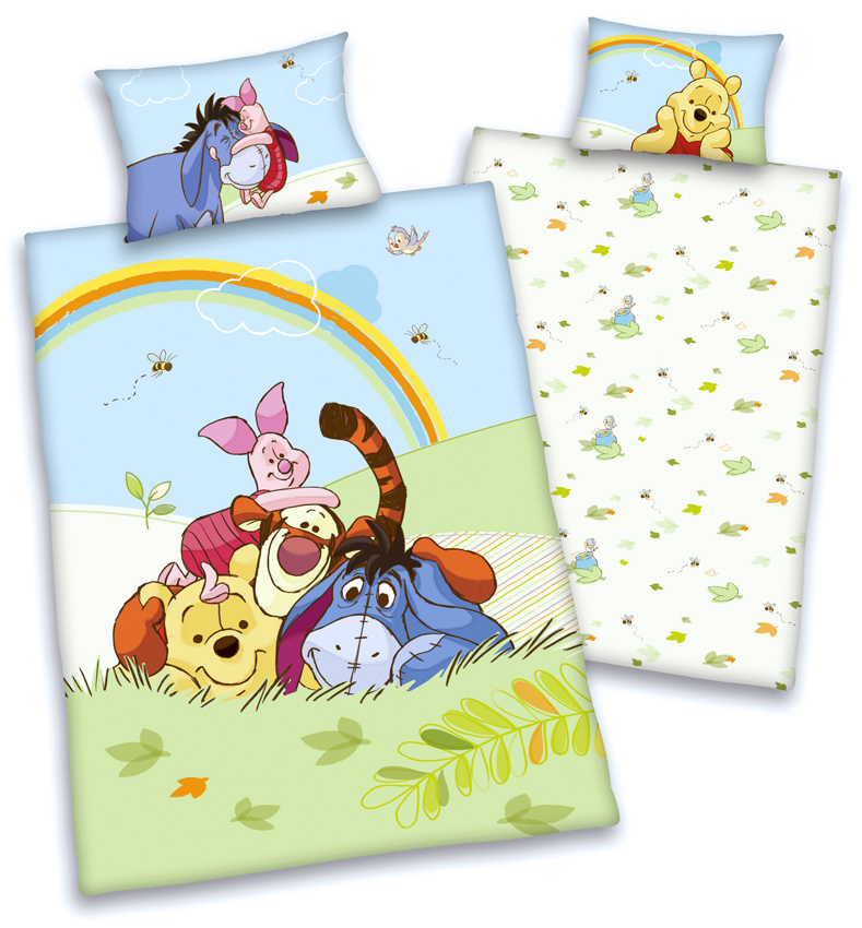 disneys winnie the pooh baby bettw sche 40x60 100x135 100 baumwolle mit rv neu ebay. Black Bedroom Furniture Sets. Home Design Ideas